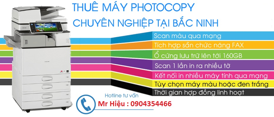 máy photocopy màu cho thuê : Photocopy màu – In màu – Scan màu - Fax  (multifuntion all in one)