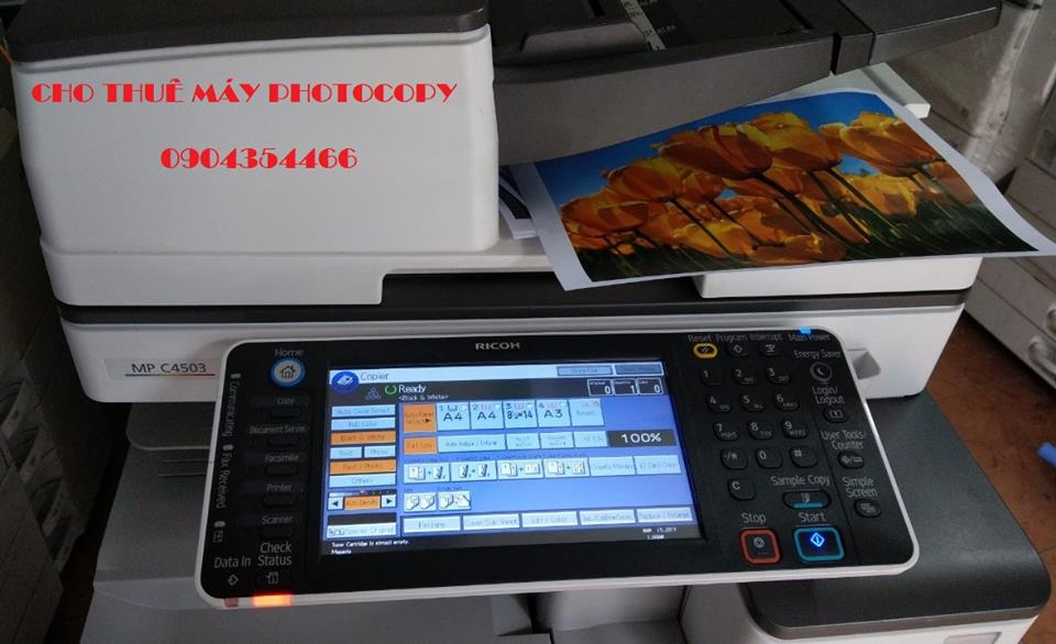Máy photocopy màu cho thuê hình thức đẹp chất lượng cao