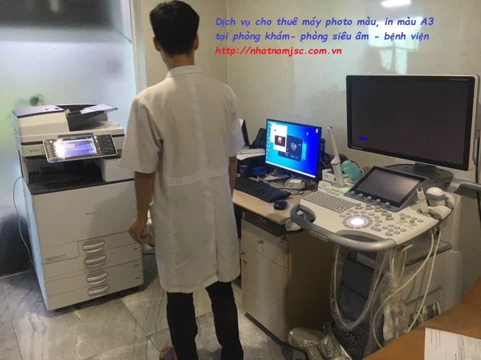 cho thuê máy in màu A3 - máy photocopy có sẵn Scan màu A3